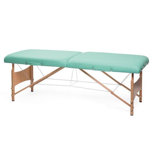 Lettino Per Massaggi Portatile In Legno Modello Deluxe Verde