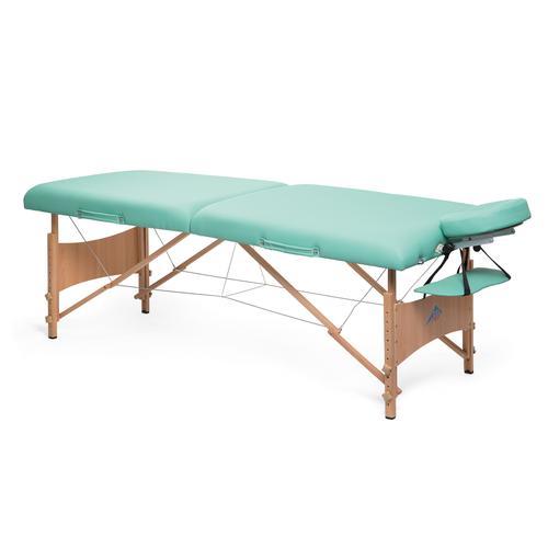 Lettino Massaggio In Legno.Lettino Per Massaggi Portatile In Legno Modello Deluxe Verde