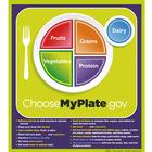 Poster MyPlate con frasi chiave, 1018319 [W44791P], Obesity e Eating Disorders Education