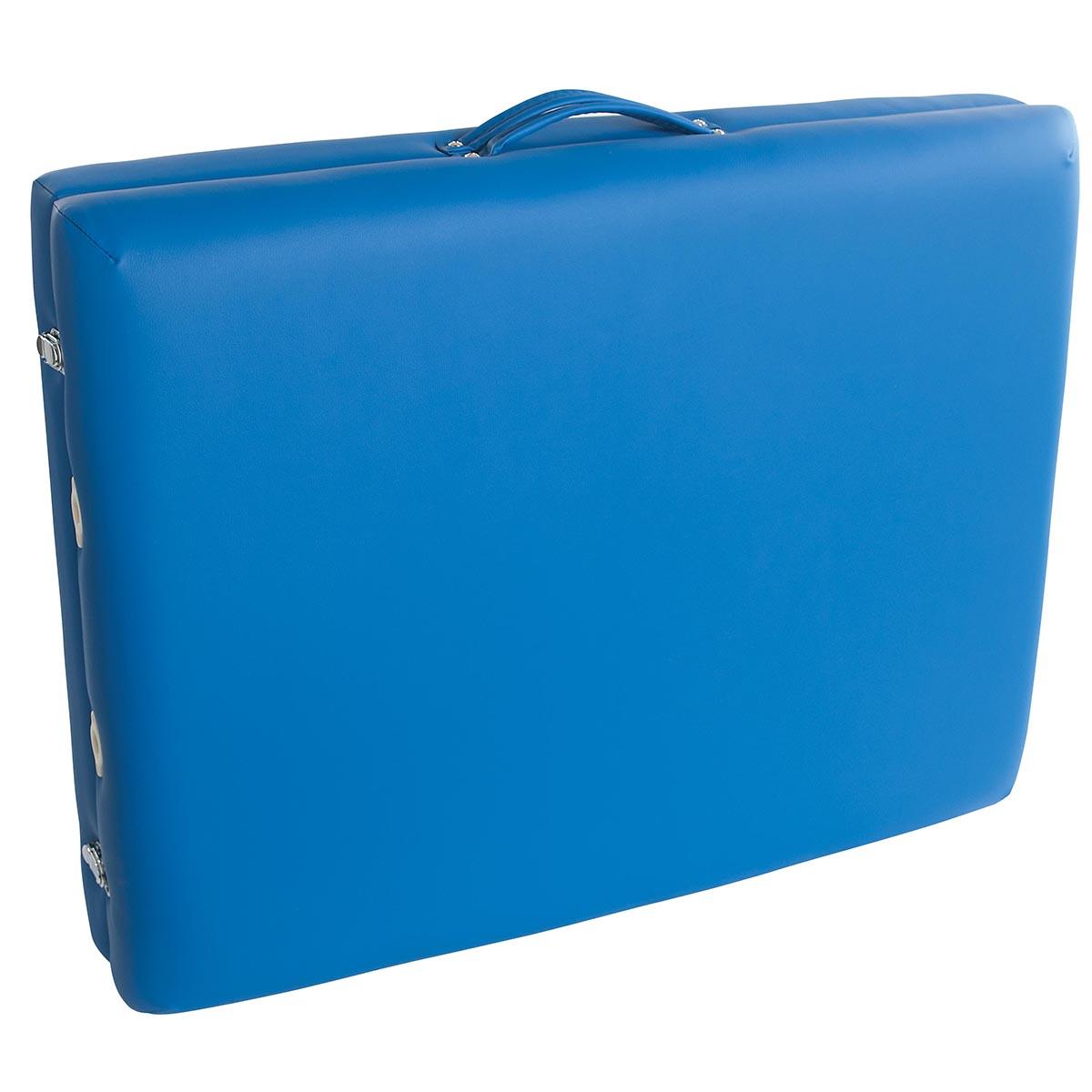 Lettino per massaggi in legno, modello base - azzurro - W60601B - sedie e lettini per i massaggi ...