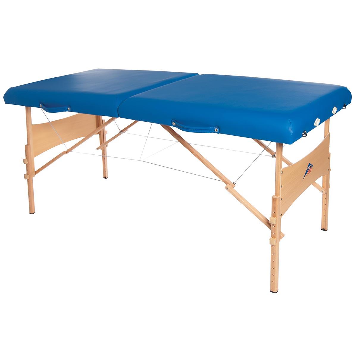 Lettino per massaggi portatile in legno, modello deluxe - azzurro - 1013727 - W60602B ...